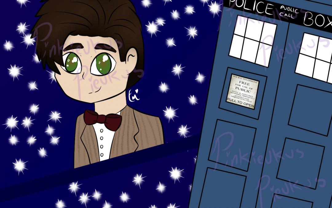 The 11th Doctor with his TARDIS