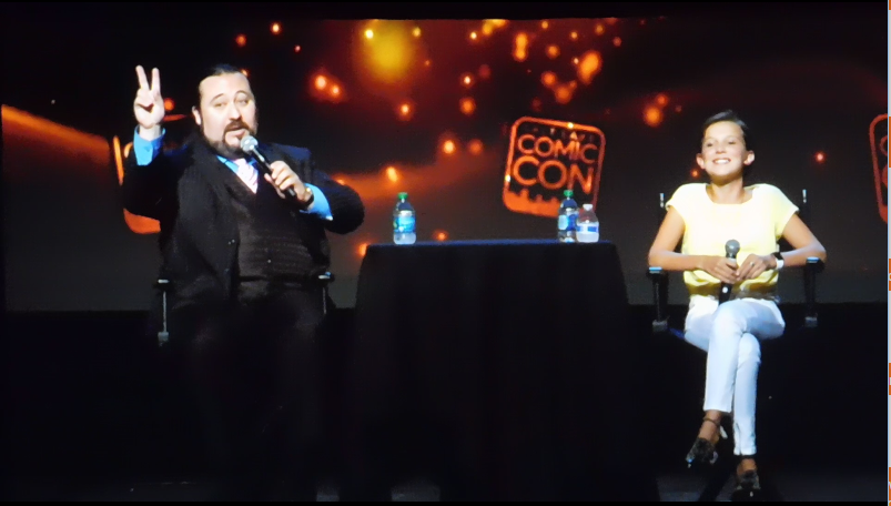 Millie Bobby Brown SLCC16 Panel still 3 Millie confirms Stranger Things season 2, but won't say if she is in it...it's gonna be darker.