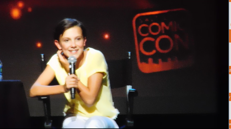 Millie Bobby Brown SLCC16 Panel still 4 Millie talks about her interaction with the boys from Stranger Things