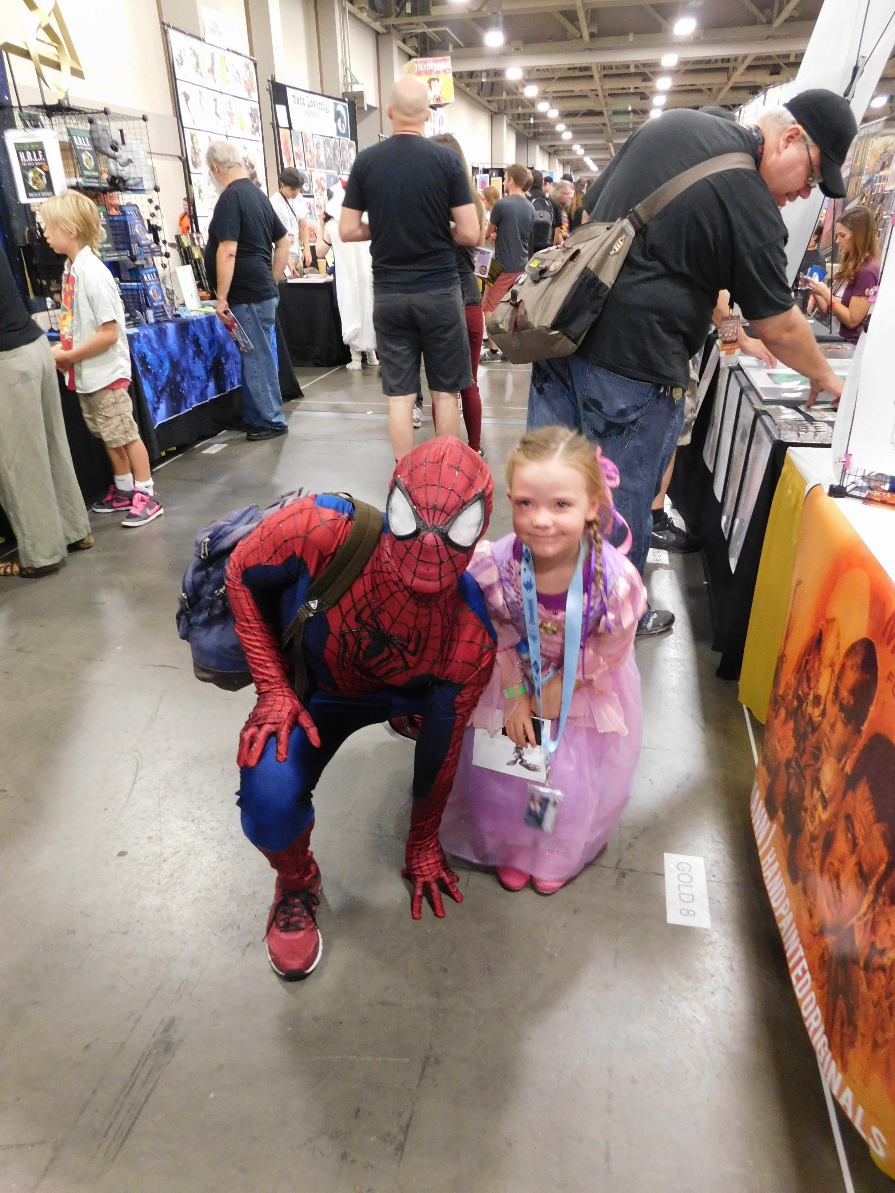 SLCCd3.009 - Spidey is saying hi to one of his biggest fans, Rapunzle.